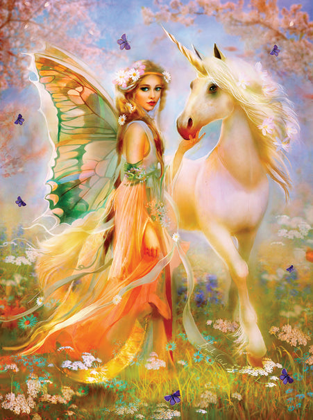 FAIRY PRINCESS AND UNICORN PUZZLE