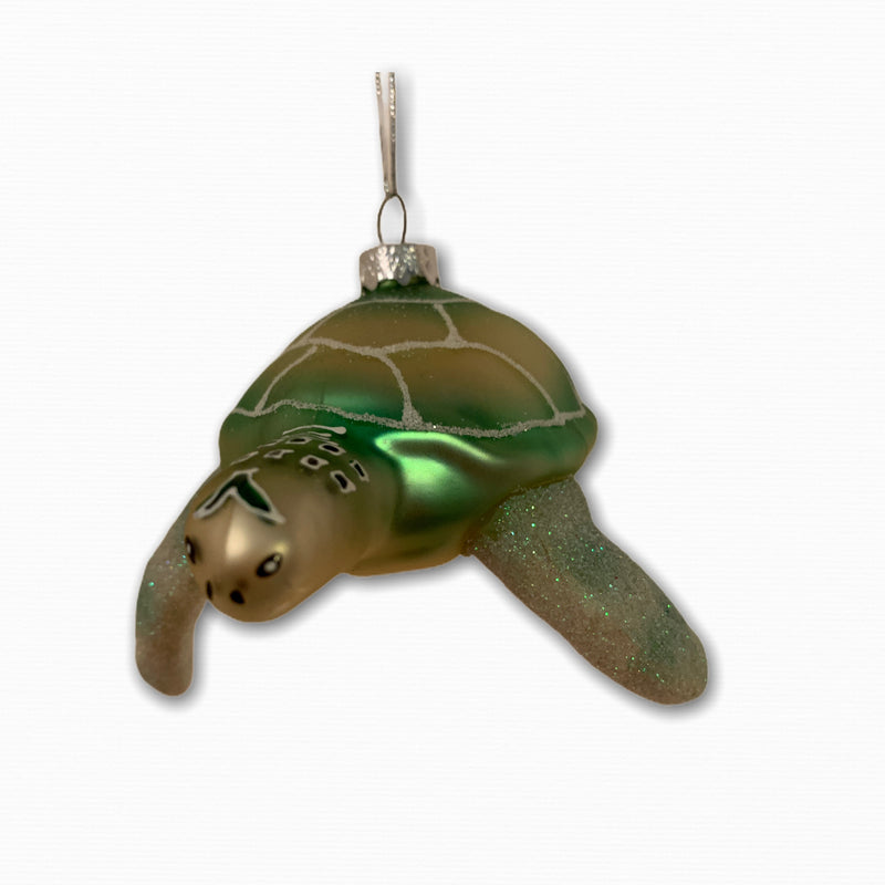FRONT SWIMMING SEA TURTLE ORNAMENT