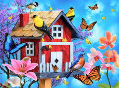 RED BIRDHOUSE PUZZLE