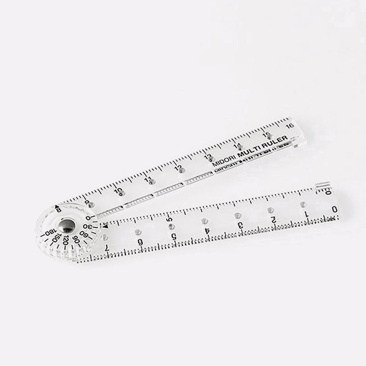 Liniuotė. Policarbonate Multiple Ruler - 16cm.