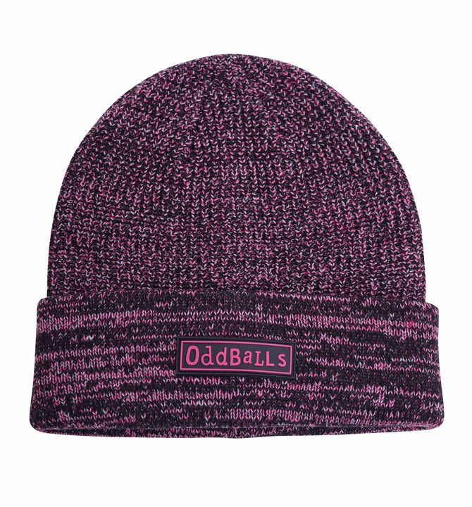 Beanie Hat - Charcoal/Magenta/Grey