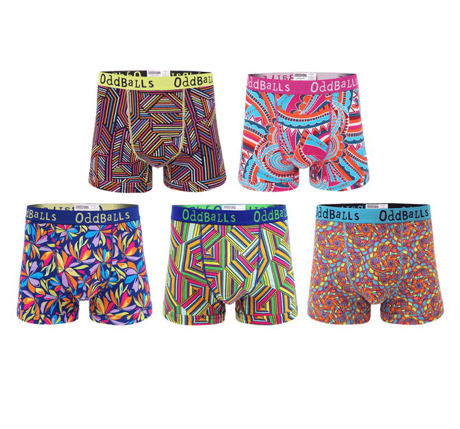 Apex Five Bundle - Mens Boxer Shorts 5 Pack Bundle