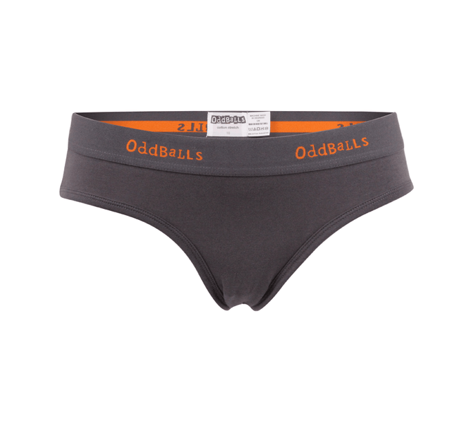 Ladies Brief - Classic Grey/Orange