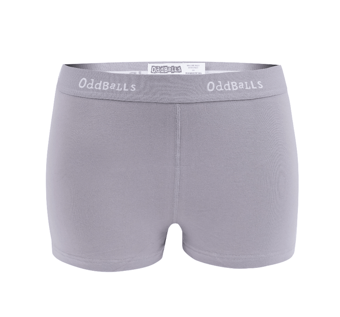 Grey & White - Ladies Boxers