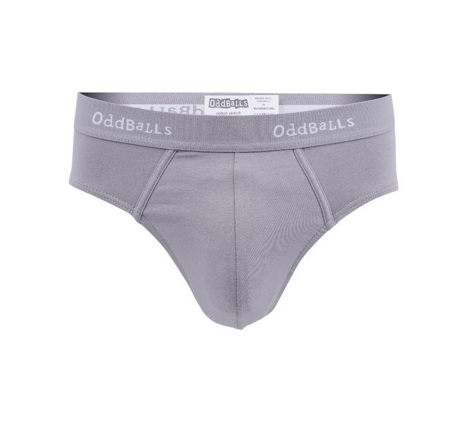 Grey & White - Mens Briefs