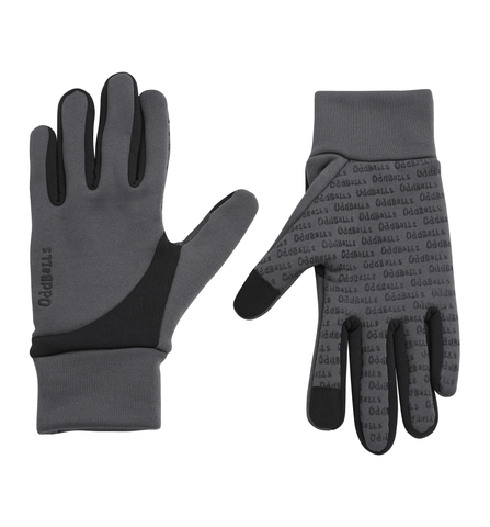 OddBalls Gloves - Grey & Black