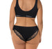 Seamless Brazilian Briefs - Black with Lace