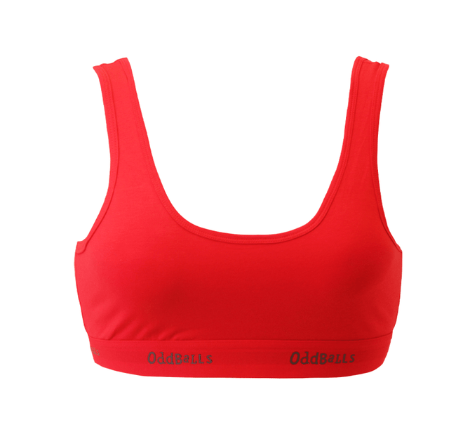 Classic Red & Charcoal - Ladies Bralette