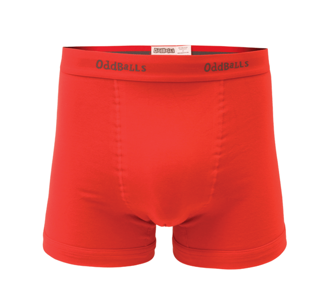Teen Boys Boxer Shorts - Classic Red & Charcoal