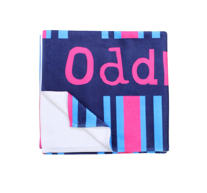 Cyan and Magenta Stripes - Towel