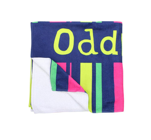 Pink, Green & Yellow Stripes - Towel