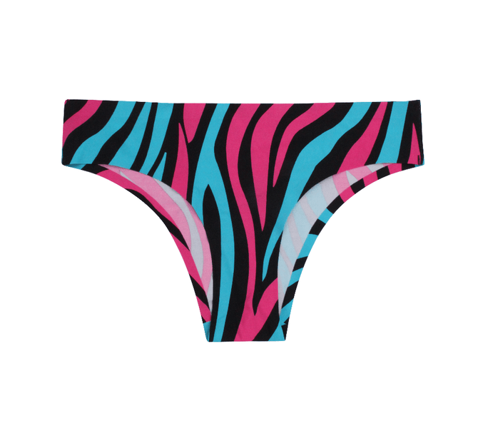 Teen Girls Seamless Brazilian Briefs - Zebra