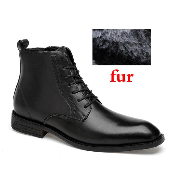 Autumn and winter natural leather waterproof business high quality men's boots