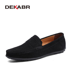 Hot sale deerskin men's flat shoes