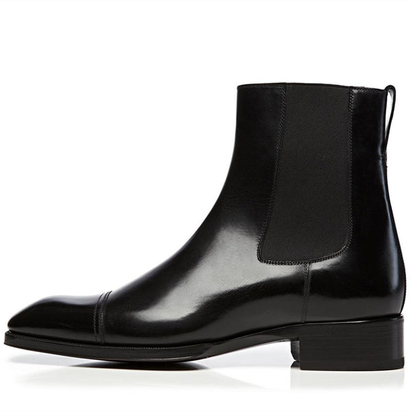 Fashion leather men's casual boots