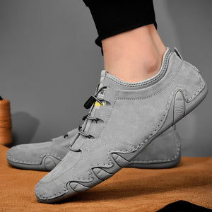 Men's cow suede leather and non-slip sports shoes