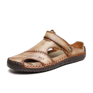 Summer outdoor beach rubber leather classic Roman men's sandals