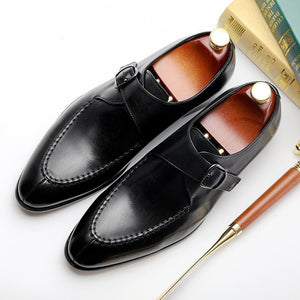 Cow Leather Buckle Dress Shoes - utopiamoment