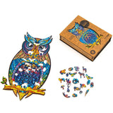Wooden Jigsaw Puzzle Charming Owl