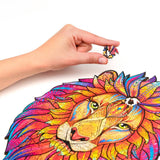 Wooden Jigsaw Puzzle Mysterious Lion