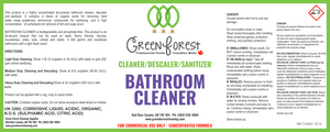 Cleaner/Descaler/Sanitizer Bathroom Cleaner Concentrate - 1L - Green Forest Cleaning