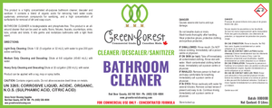 Cleaner/Descaler/Sanitizer Bathroom Cleaner Concentrate - Green Forest Cleaning