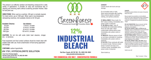 12% Industrial Bleach - 910mL - Green Forest Cleaning