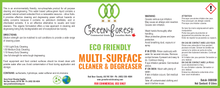 Load image into Gallery viewer, Eco Friendly Multi-Surface Cleaner & Degreaser Concentrate - Green Forest Cleaning