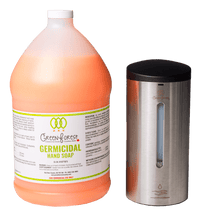 Load image into Gallery viewer, Automatic Wall Mounted Dispenser & 4L Germicidal Hand Soap - Green Forest Cleaning