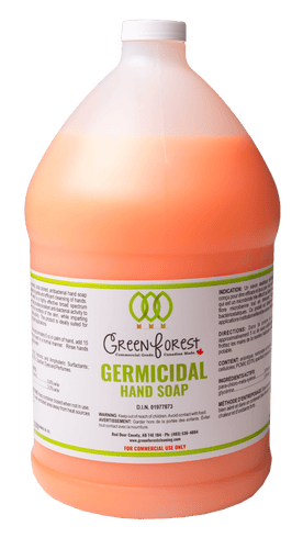 *DIN# Germicidal 4L Jug Hand Soap - Green Forest Cleaning