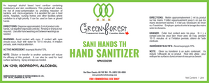 *NPN # - Canada Certified * 70% Hand Sanitizer - Green Forest Cleaning