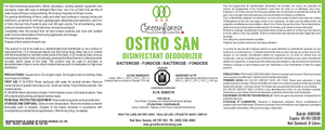 *DIN# Ostro San Commercial Disinfectant Concentrate - 4L Jug - Green Forest Cleaning