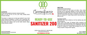 READY-TO-USE SANITIZER 200 - 4L Jug - Green Forest Cleaning