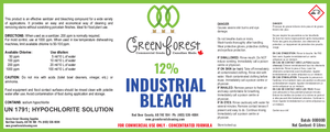12% Industrial Bleach - 4L Jug - Green Forest Cleaning