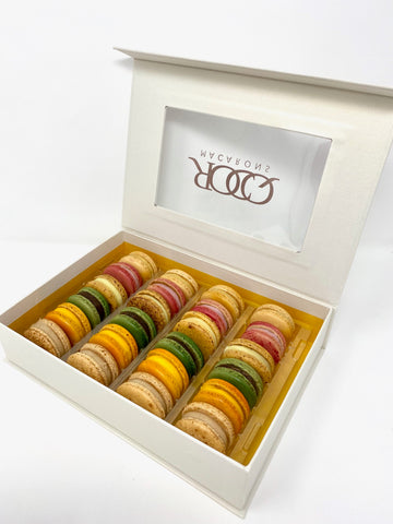Holiday Collection- 24 pk Delicious Holiday Macarons Flavors