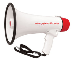 Bullhorn - 40 Watt Professional Rechargeable Batteries Megaphone/Bullhorn W/Handheld Mic /Siren and Aux In For Ipod/MP3 Devices