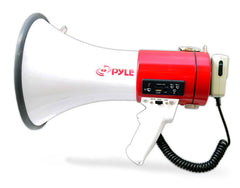 Bullhorn - Professional Megaphone - Comes with Rechargeable Battery and Built-in USB Flash & SD Memory Card Readers