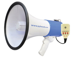 Bullhorn - 50 Watt Professional Rechargeable Megaphone - Piezo Dynamic, Lithium Battery, Record, Siren and Talk Modes & Aux-Input for All iPod/MP3 Players