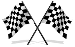 Flags - Checkered Race Flag 24x30 with Pole