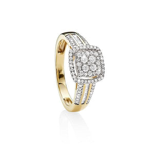 MP5545 9ct YG 0.50ct TDW Diamond Ring