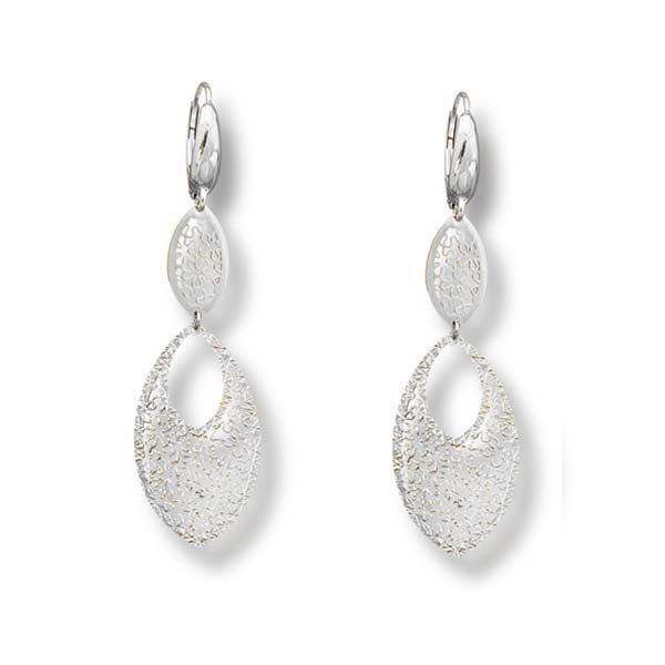 Tesoro Firenze Potenza White Gold Drop Earrings