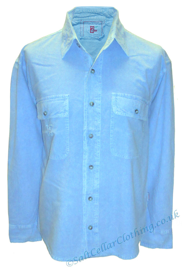Deal Clothing Mens 'AS100' Long-Sleeved Shirt - Sky Blue