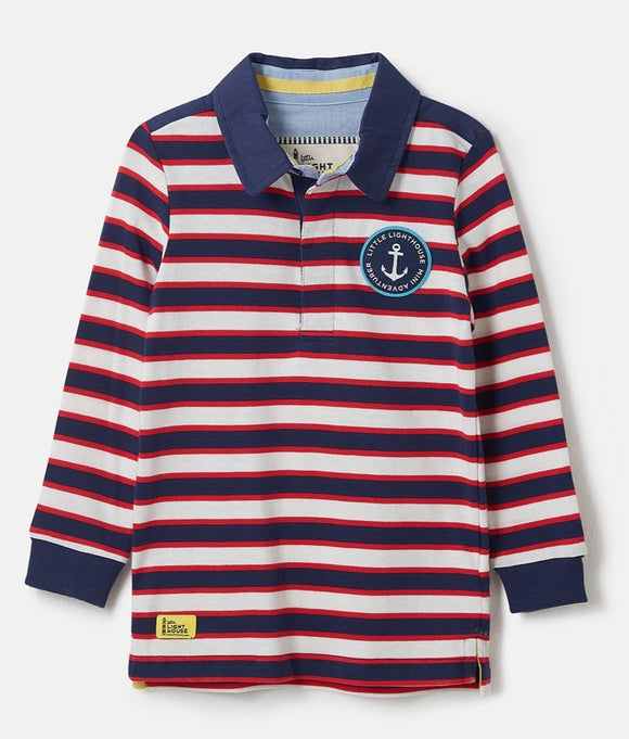 Lighthouse Kids Alfie long sleeve Rugby Shirt - Eclipse stripe