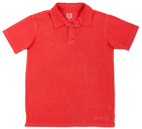 Mousqueton Mens 'Awen' Polo Shirt - Chili Red