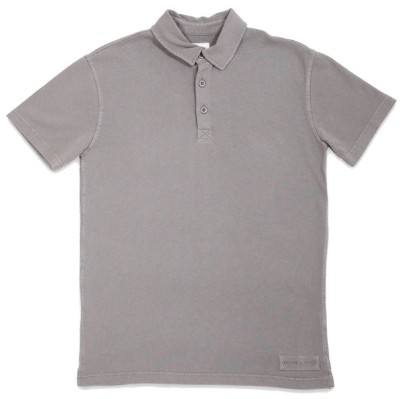 Mousqueton Mens 'Awen' Polo Shirt - Galet Grey