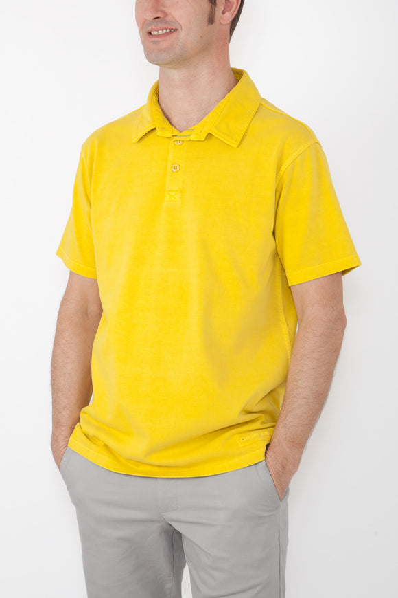 Mousqueton Mens 'Awen' Polo Shirt - Miel Yellow
