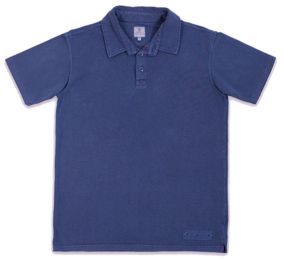 Mousqueton Mens 'Awen' Polo Shirt - Marine Navy