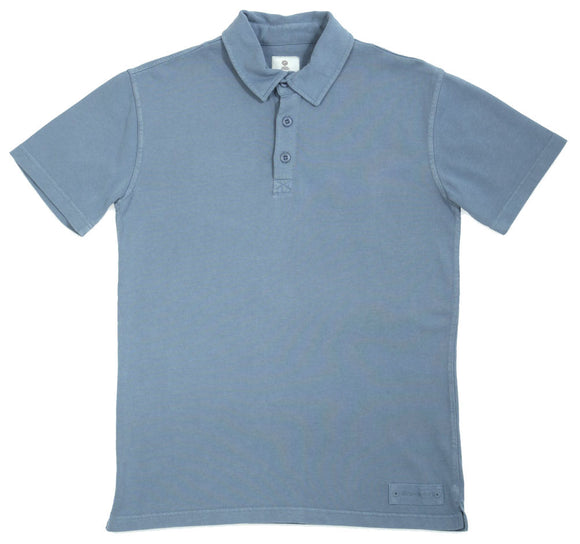 Mousqueton Mens 'Awen' Polo Shirt - Provencal Blue