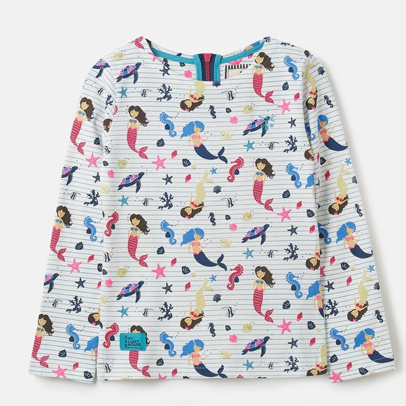 Lighthouse Kids Causeway long sleeve tee - Mermaid Print