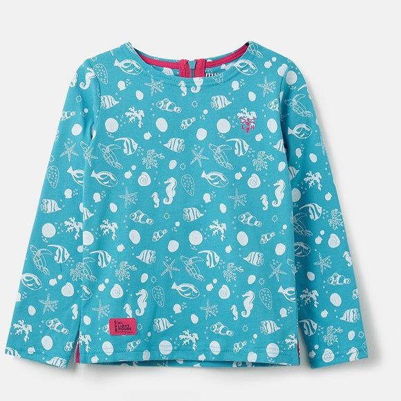 Lighthouse Kids Causeway long sleeve tee - Seashell Print